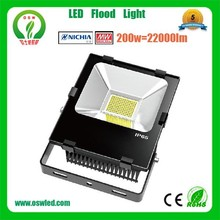 high lumen and power meanwell driver led flood light WITH ce rohs lvd ems