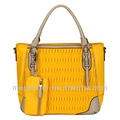2014 Spring New Arrival Yellow Leather Ladies Handbag