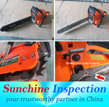 Chainsaw Shipments Inspection in China / Product Inspection Quality Control Testing / Sunchine Inspection Professional QC Teams