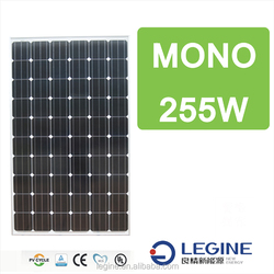 high efficiency cheap price LNE solar panel mono 255W for sale from China Manufacturer