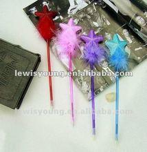 Fashion plush star ball pen