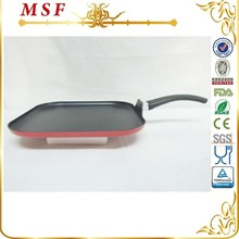 28cm square press aluminum grill pan with non stick coating