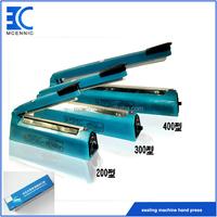 "FS-200 Hand press 8"" long sealer Manual bag sealing machine"