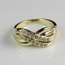 yiwu prezzo di fabbrica diretto materiale ottone placcato in oro 18k donne anello gioielli