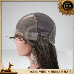 100% unprocessed brazilian human hair full lace wigs grey hair lace wig with baby hair