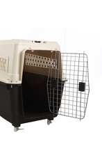 comfortable soft airline approved plastic dog travelling cage