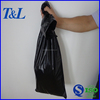 Black trash waste bag, customize HDPE plastic trash bag with punching hole for carry-easily