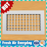 double deflection supply adjustable aluminum ventilation air grille