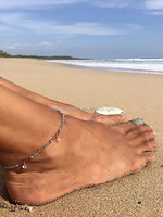 lovely Girls Handmade Beaded Crystal Charm Anklet Sexy Summer Beach Spnish Link Gold layered Chains Heart &Star Pandants Anklets