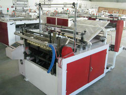 automatic bottom cut and seal bag making machine/hot sealing cold cutting bag making machine price