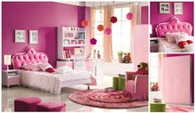 Foshan Modern Princess Purple and Pink Kids Bedroom Furniture 8618