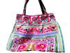 HIPPIE BOHO thailand handmade festival hmong JUMBO Hmong Hil Tribal Pom Pom fabric Tote Bag Handbag