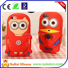 Hot selling Spiderman design soft Silicone Phone Case