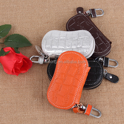 high luxury style croco leather remote car key case