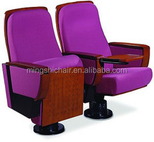 Metal frame single leg modern conference chair with table vip auditorium chair
