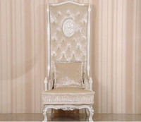 Bisini Luxury Antique High Back Wedding Chair, Fancy Wedding Throne Chaie