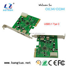 usb type c adapter 3.1 pci express x4 network card