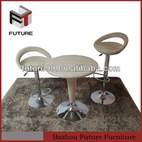 outdoor and dining furniture!Adjustable Plastic woven rattan&chrome base chair