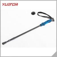 Hot selling anti-shock telescope trekking pole carbon fiberglass walking sticks pole
