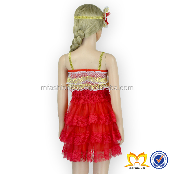 Red christmas lace dress patterns for girls evening dresses for little