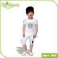 Promoción encargo bebé venta al por mayor del precio corto manga de la camiseta + shorts del niño del verano del muchacho