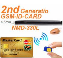 2014 New invisible mini earpiece super thin 4.5 watt gsm box credit ID card earpiece kits
