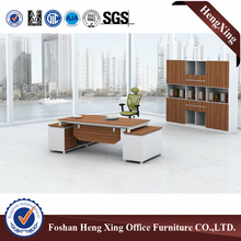 Office furniture set with metal beam support executive wooden office desk HX-GA0013