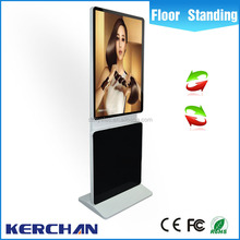 Factory price floor standing free download ads LCD screen Rotated large size 42 inch cheap touchscreen digital display software