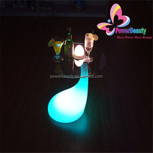 Multicolor LED plastic high top cocktail tables for party,event,KTV,nightclub,led glowing cocktail table