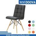 baratos al por mayor de alta de nuevo modelo de madera de la pu silla de comedor