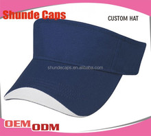 Wholesale Fancy Custom Your Designs Short Visor Cap/Sun Visor Cap