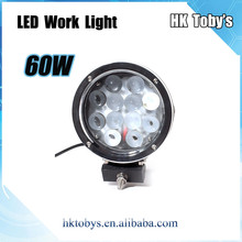 2015 Auto parts 12v 24v 7inch 60w led work light Waterproof IP67 Led driving light for trucks