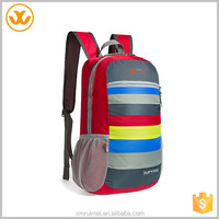 2015 hot sale travel colorful cute striped red back pack gym bags