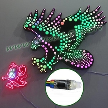 12mm LPD6803 LED Pixel String RGB Light DC5V Individual Addressable Color Waterproof IP65 Pack of 50pcs