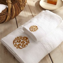 100 percent cotton thick hotel bath towel with dobby border design