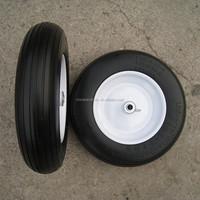 Wheelbarrow 4.0-8 Solid Heavy Duty PU Foam Rubber Wheel