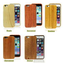 blank bamboo mobile phone case for iphone6