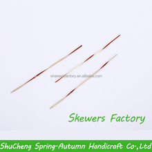 18cm Chinese eco-friendly disposable red bamboo skewers