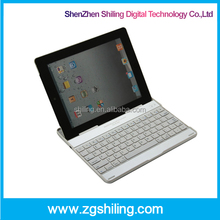 For i pad keyboard Bluetooth keyboard slim wireless Aluminum case stand for iPad 2 3 4