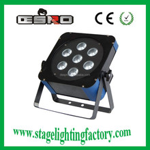disco light stage ,LED 7 Bead Flat PAR Light 3in1 Qatar Philippines HOT sell 2015