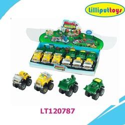 Plastic toy shop truck children funny building block truck
