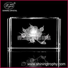 3d laser crystal rose