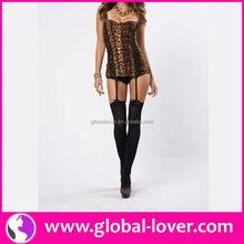 2015 wholesale leopard printed xxxl sexy corset