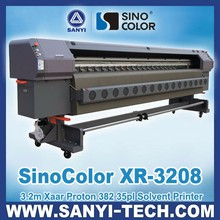 Chinese 3.2m SinoColor XR-3208 Inkjet Printer, with Xaar Proton 382 Printheads