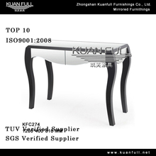 Classical European style wooden console table with mirror