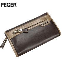 Fashion Design Zipper Wallet Soft Leather Formal Clutch Bag