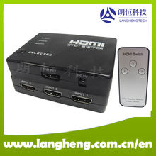 hdmi switch box 3 in 1 out with remote control