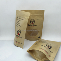 Food grade stand up brown kraft paper bag with window and zipper
