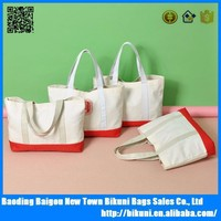 100% heavy duty cotton canvas tote shopping bag for promotion