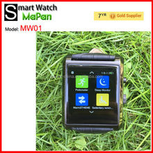 best selling cheap touch screen watch phone 1.54' touch screen/ MaPan leather smart watch for sale